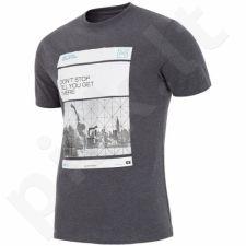Marškinėliai 4f M H4L18-TSM027 grafitowa