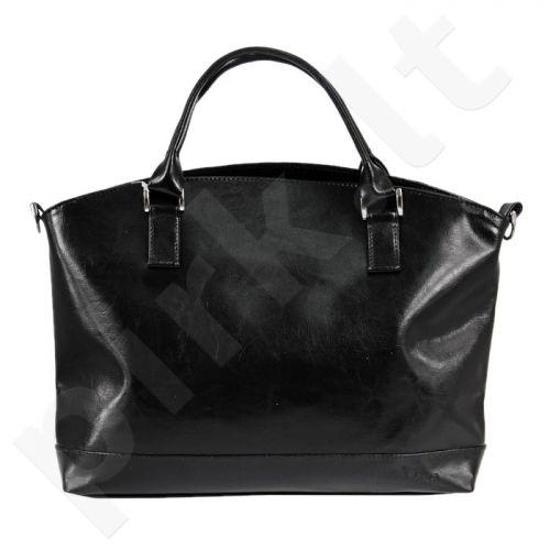 DAN-A T194 juoda rankinė iš natūralios odos , moteriška