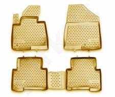 Guminiai kilimėliai 3D HYUNDAI Santa Fe 2012->, 4 pcs. /L27059B /beige