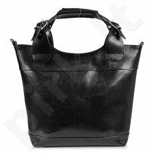 DAN-A T195 juoda rankinė iš natūralios odos