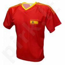 Marškinėliai futbolui Reda Hiszpania raudona
