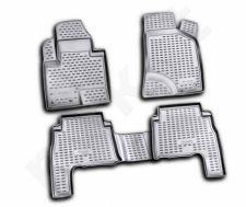 Guminiai kilimėliai 3D HYUNDAI Santa Fe 2010-2012, 4 pcs. /L27054G /gray