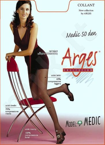 Pėdkelnės  MEDIC 50 denų storio,koreguojančios klubų ir šlaunų linijas bei gerinančios kojų kraujotaką bei neleidžiančios kojoms tinti (šviesiai ruda)