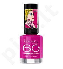 Rimmel London 60 Seconds nagų lakas By Rita Ora, kosmetika moterims, 8ml, (403 Oragasm)