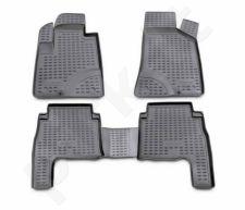Guminiai kilimėliai 3D HYUNDAI Santa Fe 2006-2010, 4 pcs. /L27055G /gray