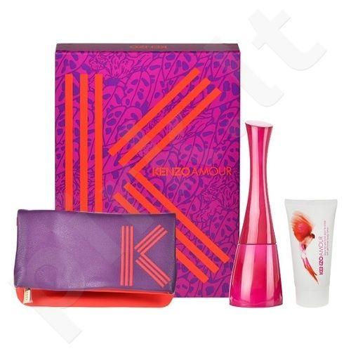 Kenzo Amour rinkinys moterims, (EDP 100ml + 50ml kūno losjonas + kosmetika krepšys)