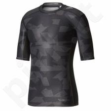Marškinėliai termoaktyvūs adidas Techfit Chill Short Sleeve Tee Print M CD3646