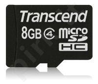 Atminties kortelė Transcend microSDHC 8GB CL4
