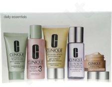 Clinique Daily Essentials Combination Skin, rinkinys veido želė moterims, (50ml DDM želė + 15ml aplink akis + 30ml veido muilas Mild + 60ml Clarifying Lotion 3 + 50ml Take the Day Off makiažo valiklis)