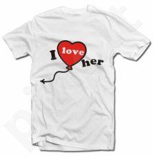 "Marškinėliai ""I LOVE HER"""
