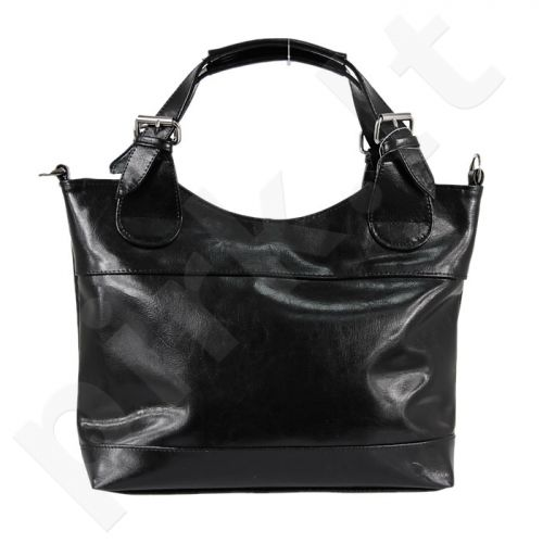 DAN-A T214 juoda rankinė iš natūralios odos , moteriška