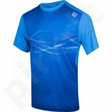 Marškinėliai tenisui Wilson Soundwave Print Crew M WRA732302