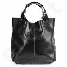 DAN-A T219 juoda rankinė iš natūralios odos , moteriška