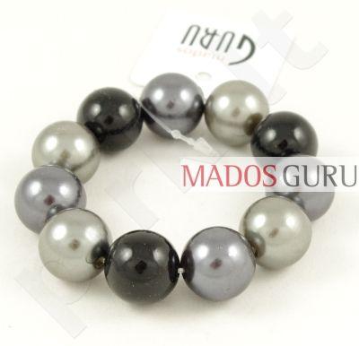 Juoda-pilka perlų apyrankė P826