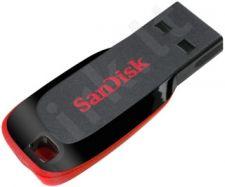 Atmintukas SanDisk Cruzer Blade 32GB, Sparta iki 18MBs, Juodai raudonas