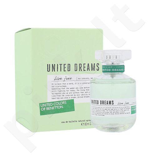 Benetton United Dreams Live Free, EDT moterims, 80ml
