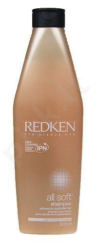 Redken All Soft šampūnas, 300ml, kosmetika moterims