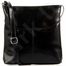 DAN-A T288 juoda rankinė moterims odinė