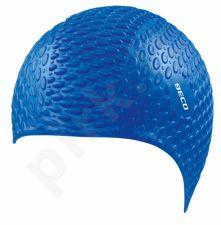 Kepuraitė plaukimui vyrams silikoninė bubble 7396 6 blue