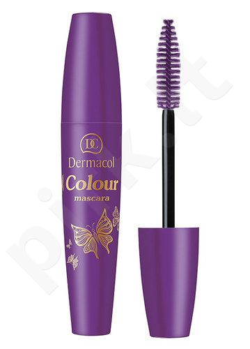 Dermacol Colour blakstienų tušas, kosmetika moterims, 10ml, (4 Violet)