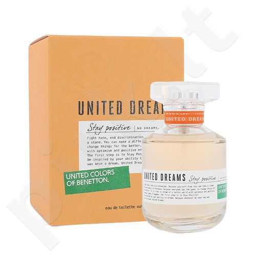 Benetton United Dreams Stay Positive, EDT moterims, 80ml