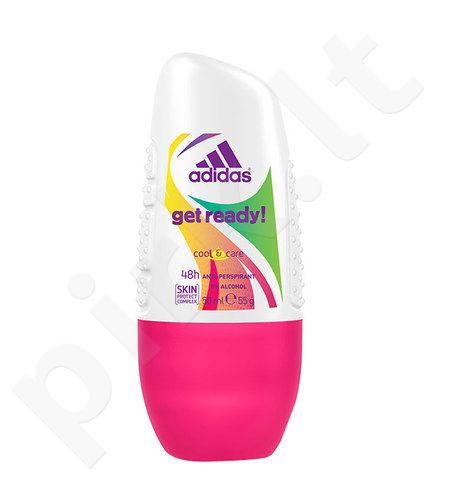 Adidas Get Ready!, dezodorantas moterims, 50ml