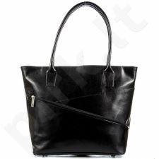 DAN-A T294 juoda rankinė moterims odinė