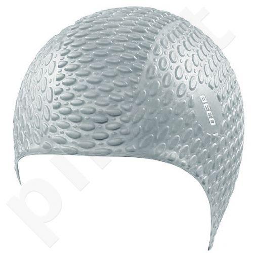 Kepuraitė plaukimui vyrams silikoninė bubble 7396 11 silver
