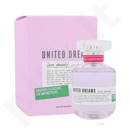 Benetton United Dreams Love Yourself, EDT moterims, 80ml