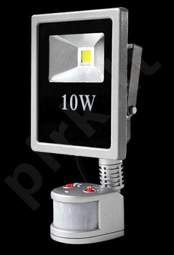 158-Prožektorius LED 10W su judesio davikliu