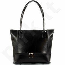 DAN-A T297 juoda rankinė moterims odinė