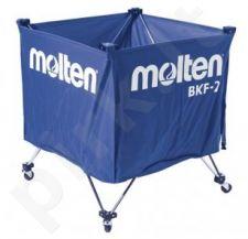 Vežimėlis kamuoliams 60x60x55 cm, mėlynas