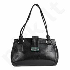 DAN-A T229 juoda rankinė iš natūralios odos , moteriška