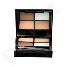 Makeup Revolution London Focus & Fix, Eyebrow Shaping Kit, rinkinys antakiams moterims, 5,8g, (Medium Dark)