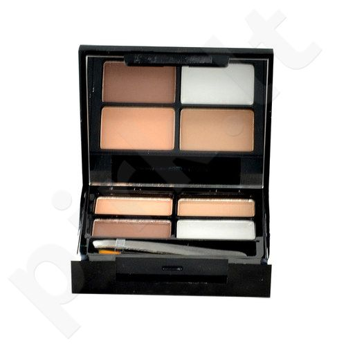Makeup Revolution London Focus & Fix Eyebrow Shaping Kit, kosmetika moterims, 5,8g, (Medium Dark)