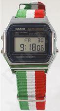 Laikrodis CASIO   A158W NATO STRIPESITA Timer.  . WR 31