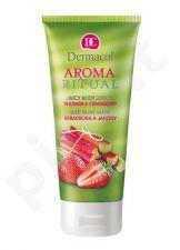 Dermacol Aroma Ritual kūno losjonas Rhubarb&Strawberry, kosmetika moterims, 200ml