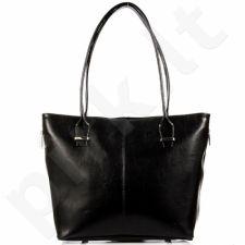 DAN-A T295 juoda rankinė moterims odinė
