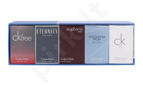 Calvin Klein Mix Giftset rinkinys vyrams, (10ml EDT Euphoria + 10ml EDT Eternity + 10ml EDT CK Free Sport + 10ml EDT Encounter Fresh + 10ml CK One)