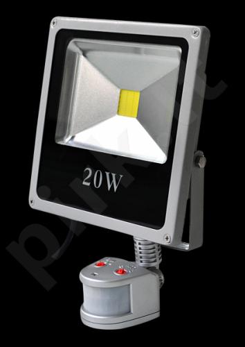 158-Prožektorius LED 20W su judesio davikliu