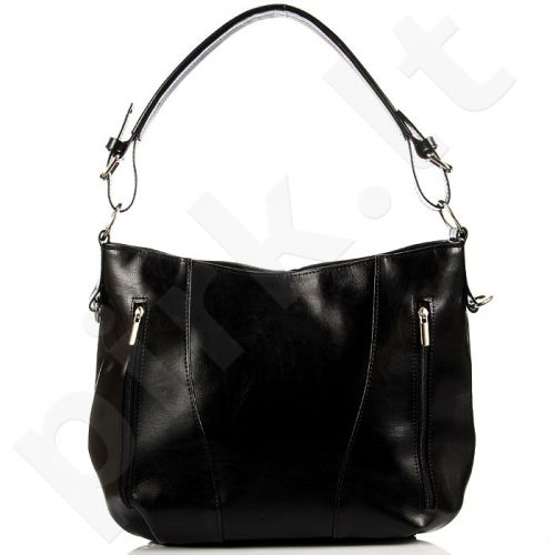 DAN-A T296 juoda rankinė moterims odinė