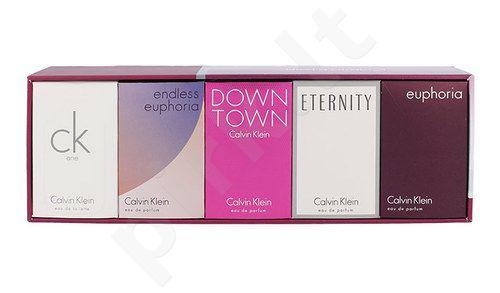 Calvin Klein Mix Giftset rinkinys moterims, (5ml EDP Eternity + 4ml EDP Euphoria + 10ml EDT One + 5ml EDP Endless Euphoria + 5ml EDP Downtown)