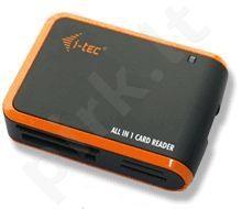 Atminties kortelių skaitytuvas i-Tec USB2.0 All-in-One Juodai oranžinis