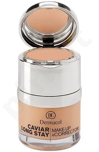 Dermacol Caviar Long Stay Make-Up & Corrector 1, 30ml, maskuojantis makiažo pagrindas