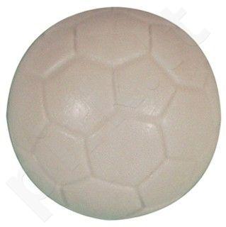 Stalo futbolo kamuoliukas, baltas, graviruotas
