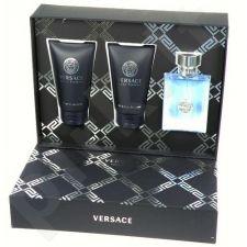 Versace Pour Homme rinkinys vyrams, (EDT 50ml + 50ml dušo želė + 50ml losjonas po skutimosi)