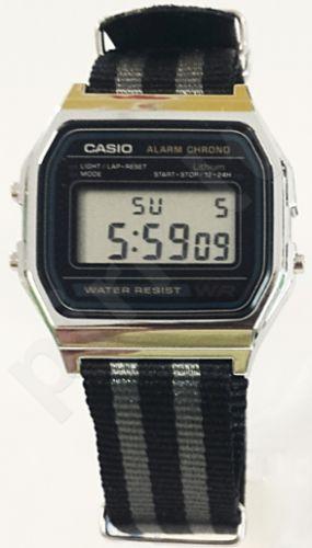 Laikrodis CASIO   A158W NATO STRIPESGREY/BLACK Timer.  . WR 34