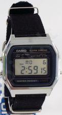 Laikrodis CASIO   A158W NATO KHAKIBLACK Timer.  . wr 30