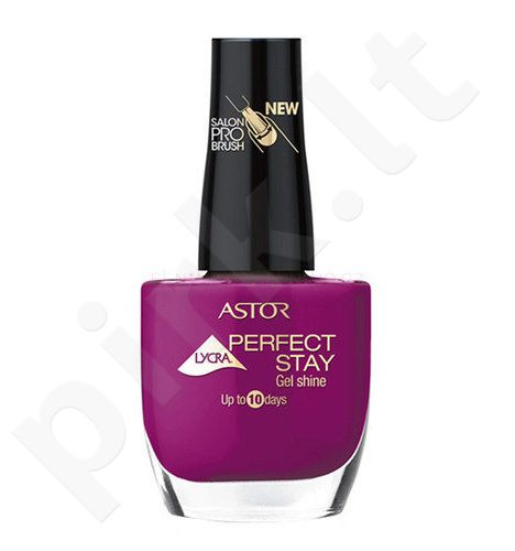 Astor Perfect Stay nagų lakas, kosmetika moterims, 12ml, (123 Retro Rose)