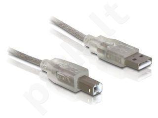 Delock USB cable AM-BM 2.0 with ferrite core, 0.5m